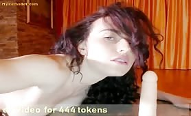 Hot Brunette Teaches How She Would Play With Your Cock